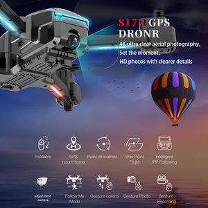 2020 NEW S177 drone gps 4k 5G WIFI HD wide angle dual camera fvp drones 20min rc distance 600m quadcopter Height Keep flight