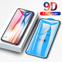 Load image into Gallery viewer, 9D protective glass for iPhone 6 6S 7 8 plus X XS 11 pro MAX glass on iphone 7 6 8 plus XR XS MAX 11 Pro MAX 11 screen protector