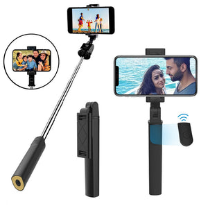 3 in 1 Wireless Bluetooth Selfie Stick Extendable Handheld Monopod Foldable Mini Tripod With Shutter Remote For IOS Android