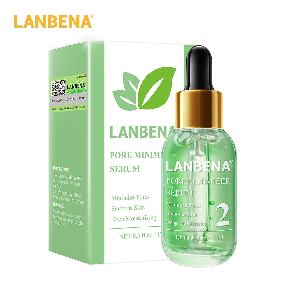 LANBENA Blackhead Remover Face Serum Shrinking Pore Purifying Acne Treatment Essence Smooth Firming Skin Care 100 pcs paper Set
