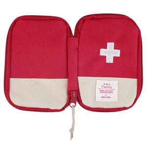 Mini First Aid Kit Empty Bag Home Emergency Survival Pouch Portable Drugs Safety Bag Small Medicine Divider Storage Organizer