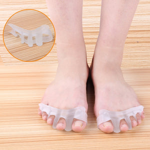 1 Pair Gel Bunion Toe Separator Hallux Valgus Corrector Orthotics Feet Care Bone Thumb Adjuster Correction Random Color