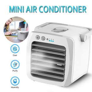 Mini Portable Air Conditioner Fans Humidifier Purifier USB Desktop Air Cooler Small Fan With Water Tanks For Home Room Office