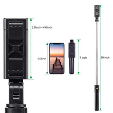 Load image into Gallery viewer, 3 in 1 Wireless Bluetooth Selfie Stick Extendable Handheld Monopod Foldable Mini Tripod With Shutter Remote For IOS Android
