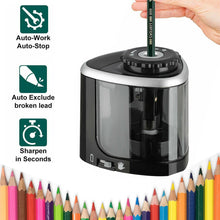 Load image into Gallery viewer, NEW 1PCS Electric Auto Pencil Sharpener Safe Student Helical Steel Blade Sharpener for Artists Kids Adults Colored Pencils