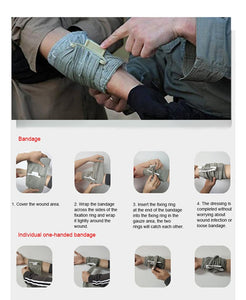 4/6inch Outdoor First Aid Trauma Hemostatic Bandage First Aid Medica Compression Emergency Bandage For Finger Joint Knee