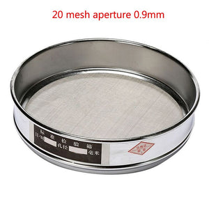1x 10-100 304 Stainless Steel Mesh Aperture Laboratory Test Sieve Chrome Durable Tube Racks Medical Lab Dental Supplies