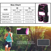 Load image into Gallery viewer, Women Shapewear Waist Mid-Thigh Shapers Fat Burning Compress Slimming Belt Leg Trimmers Neoprene Muscles Band Thigh Slimmer Wrap