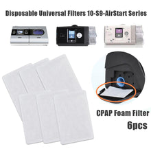 Load image into Gallery viewer, CPAP Foam Filter ResMed|Premium Disposable Universal Filters Supplies for ResMed AirSense 10-S9-AirStart - Series CPAP