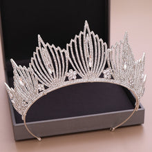 Load image into Gallery viewer, Wedding Crown Bridal Headpiece Gold Silver Color Rhinestone Crystal Diadem Queen Crown Princess Tiaras Wedding Hair Jewelry