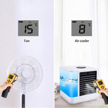 Load image into Gallery viewer, Mini Portable Air Conditioner Fans Humidifier Purifier USB Desktop Air Cooler Small Fan With Water Tanks For Home Room Office