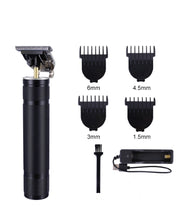 Load image into Gallery viewer, USB Rechargeable T9 Baldheaded Hair Clipper Electric hair trimmer Cordless Shaver  Trimmer 0mm Men Barber Hair Cutting Machine