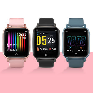 T1 Body Temperature Measure Smart Watches Men Women Heart Rate Blood Pressure Monitor Push Message Weather Forecast Smartwatch