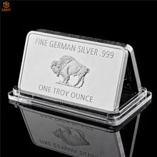 Load image into Gallery viewer, Fine Germany Silver Mint 1 Troy Ounce Buffalo Euro Silver Bullion Bar Replica Coins Collection