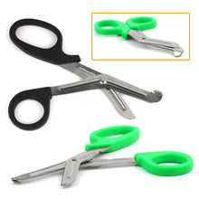 "Load image into Gallery viewer, Practical Stainless Steel Medical Nurse 6"" EMT Shears Bandage Paramedic Trauma Scissors Doctor First Aid Emergency random color"