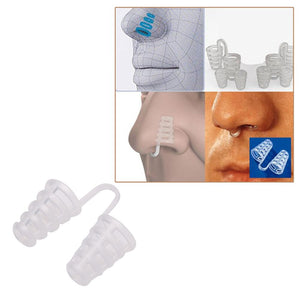 5pcs Healthy Anti Snore Device Sleeping Aid Equipment Stop Snoring Magnetic Apnea Nose Clip Mini Transparent Anti-Snoring Device
