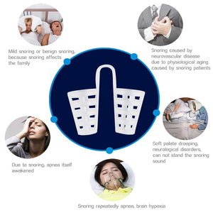 4Pcs=1Box Anti-Snoring Breathe Aid Anti-snore Nose Purifier Stop Snore Device AntiSnore Apnea Nose Clip Sleeping Aid Equipment