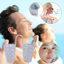 Load image into Gallery viewer, 5pcs Healthy Anti Snore Device Sleeping Aid Equipment Stop Snoring Magnetic Apnea Nose Clip Mini Transparent Anti-Snoring Device