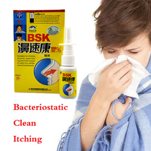 1PC Powerful Rhinitis Spray Sinusitis Nasal Congestion Itchy Allergic Nose Medicine Chinese Nosal Spray Pointed Shape