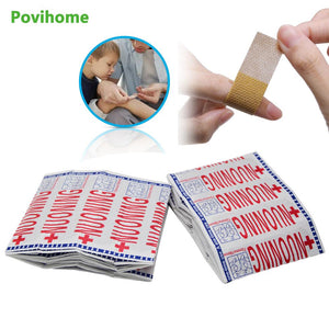 20pcs/100pcs Band Aid Wound Dressing Sterile Hemostasis Stickers First Aid Bandage Emergency Kit Adhesive Medical Plaster