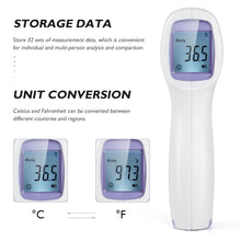 Load image into Gallery viewer, Forehead Non-contact Infrared body Thermometer ABS  for Adults and Children with Lcd Display Digital Laser Temperature Tool 1set