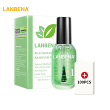 Load image into Gallery viewer, LANBENA Blackhead Remover Face Serum Shrinking Pore Purifying Acne Treatment Essence Smooth Firming Skin Care 100 pcs paper Set
