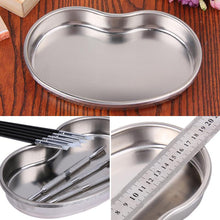 Load image into Gallery viewer, MedicalBall Cylinder Disinfecting Silver Stainless Steel Tray Medical Tools Storage Dish Nail Dental Supplies