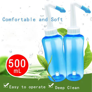 Dropship Adults Children Neti Pot 500ml Nose Protector Wash Cleaner Moistens Avoid Allergic Rhinitis Irrigator Nose Health care