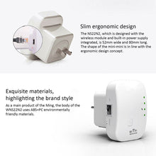 Load image into Gallery viewer, Wireless WiFi Repeater Wifi Extender 300Mbps Wi-Fi Amplifier 802.11N/B/G Booster Repetidor Wi fi Reapeter Access Point