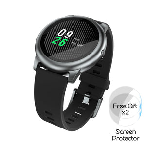 Haylou Solar LS05 Smart Watch Sport Metal Heart Rate Sleep Monitor IP68 Waterproof iOS Android Global Version for Xiaomi YouPin (Watch.2pcs protector)