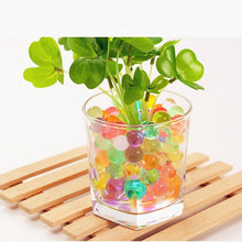 Load image into Gallery viewer, 100pcs Pearl Shape Soft Crystal Soil Water Beads Mud Grow Magic Jelly Balls Wedding Home Ornament Plant Cultivate Decoration E