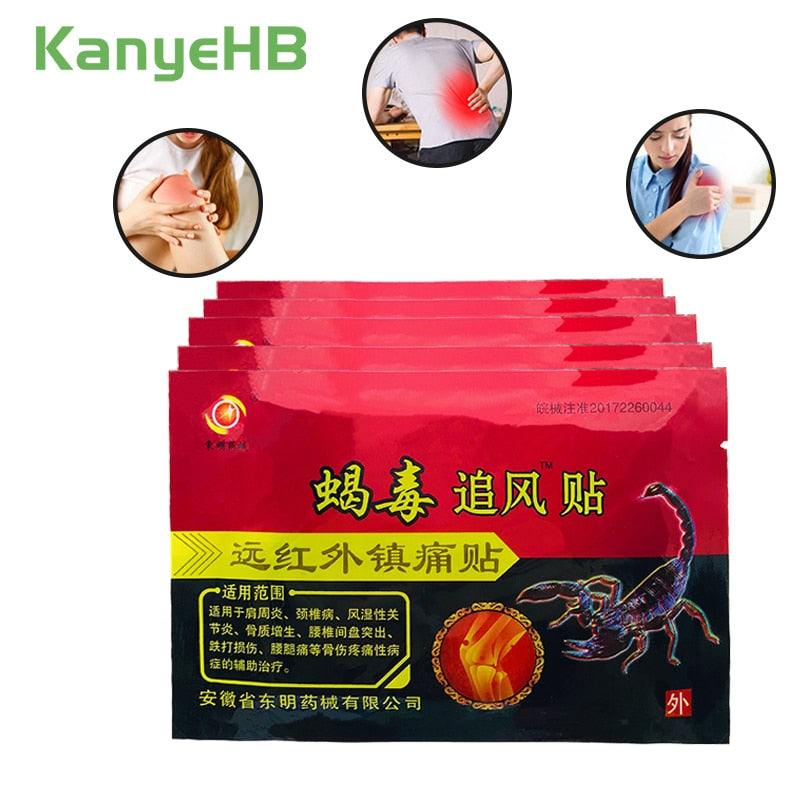24pcs Scorpion Venom Pain Relief Patch Back Muscle Arthritis Joint PainKiller Chinese Traditional Herbal Medical Plaster A014
