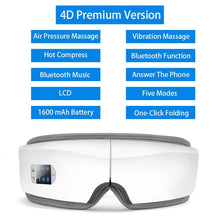 Load image into Gallery viewer, 4D Smart Airbag Vibration Eye Massager Eye Care Instrument Hot Compress Bluetooth Eye Fatigue Massage Glasses