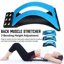 Load image into Gallery viewer, Back Massager Stretcher Magnetic Back Massage Fitness Massage Equipment Stretch Relax Stretcher Lumbar Support Spine Pain Relief