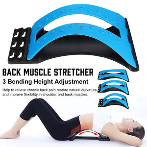 Back Massager Stretcher Magnetic Back Massage Fitness Massage Equipment Stretch Relax Stretcher Lumbar Support Spine Pain Relief