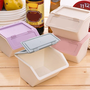Good Healthy Desktop Plastic Storage Box Stationery Holder School Office Supplies Storage Box with Cover Stackable