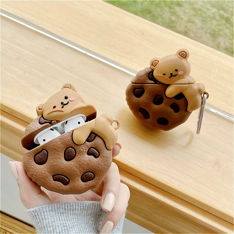 Trap Cookies with Bear Type Case for AirPods