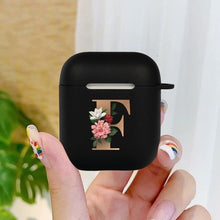 Load image into Gallery viewer, Trap Gold Initial alphabet Letter Style Case for Airpods 1&2