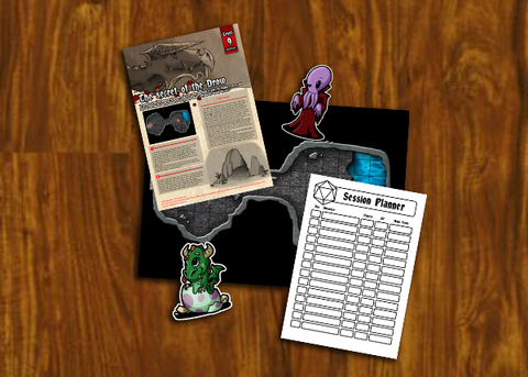 "Roll for Treasure Subscription #9 ""The Secret of the Drow"""