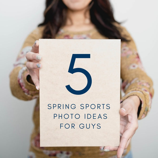 5 Spring Senior Sports Photo Ideas (Boys Edition)