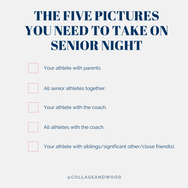 The Five Pictures You need to take on your Winter Sports Senior Night