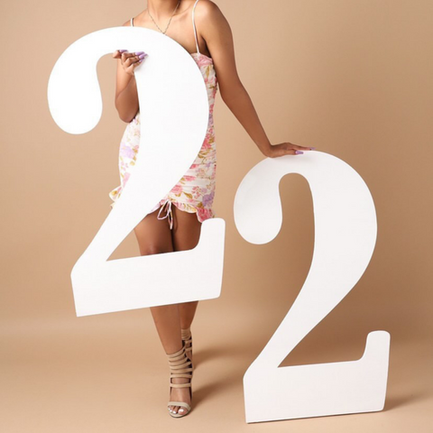 Giant 22 wooden numbers from CollageandWood