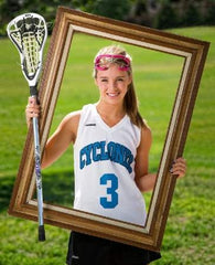Lacrosse Senior Photo with Frame, curated by collageandwood.com