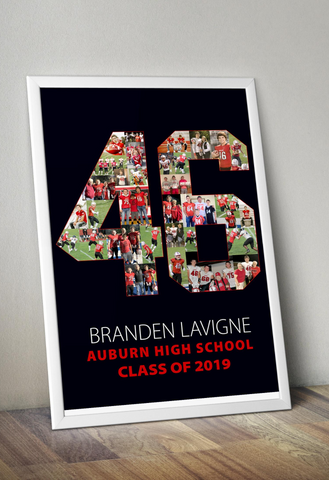 Senior Night Poster from collateandwood.com