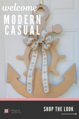 wooden anchor, front door, from collageandwood.com