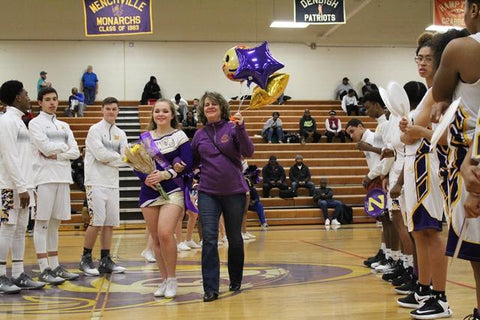 Mom escorting her daughter on senior night, curated by CollageandWood.com