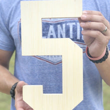 Load image into Gallery viewer, 12 Inch Unfinished Wooden Letters and Wooden Numbers - collageandwood