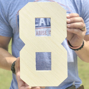 12 Inch Unfinished Wooden Letters and Wooden Numbers - collageandwood