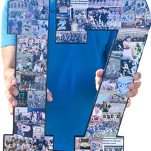 Load image into Gallery viewer, 18 Inch Custom Sports Number or Letter Photo Collage for Senior Night - collageandwood