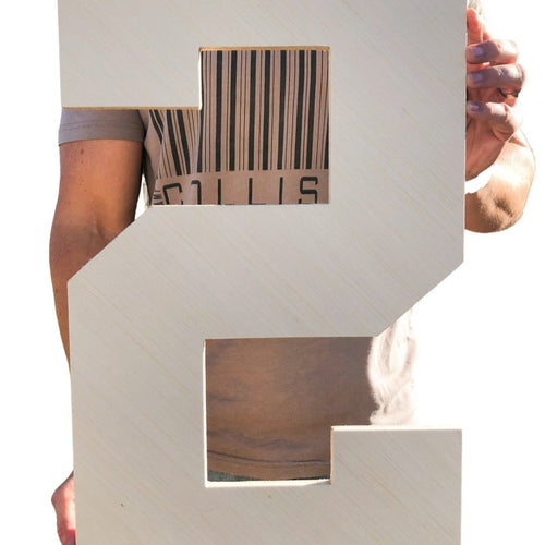 24 Inch Unfinished Wooden Letters and Wooden Numbers - collageandwood